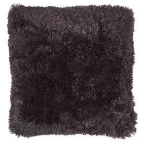 Cuddly Black Cushion Cover