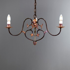 Coniston Burnished Gold 3 Light Chandelier