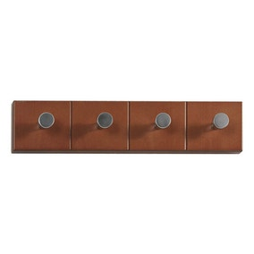 4 Hook Wood Wall Coat Rack