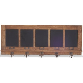 Industrial Blackboard Wall Coat Hanger