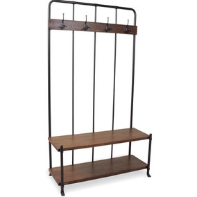 Industrial Vintage Coat Hanger Bench