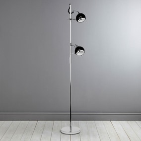 Twin Black Floor Lamp