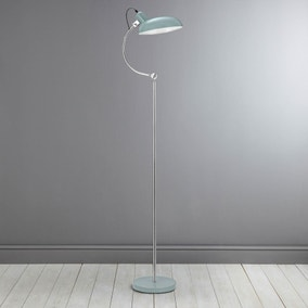 Vermont Shutter Blue Floor Lamp