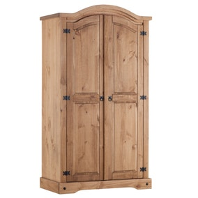 Corona Pine Curved Top Wardrobe