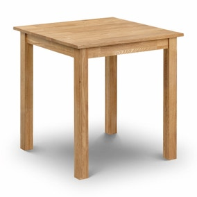 Coxmoor Oak 2 Seater Square Dining Table