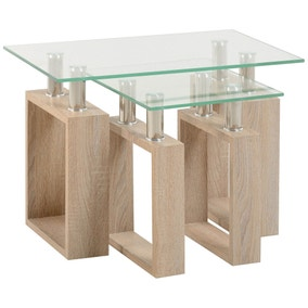 Milan Glass Top Table Nest