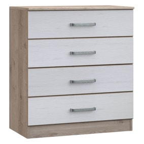 Minnesota Natural and White 4 Drawer Chest