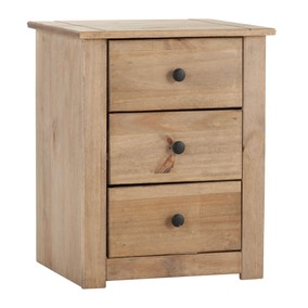 Panama 3 Drawer Bedside Table