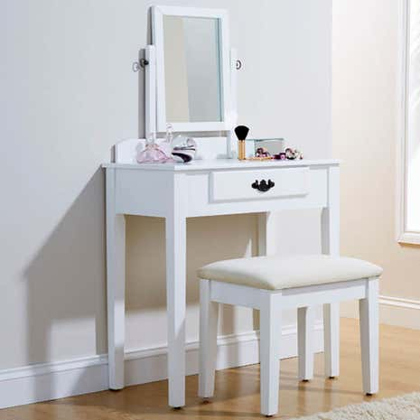 shaker dressing table set dunelm. Black Bedroom Furniture Sets. Home Design Ideas