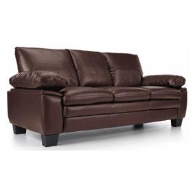 texas 3 seater bonded leather sofa