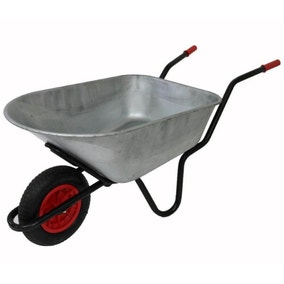 Mammoth Galvinised Solid Wheel Wheelbarrow 165L