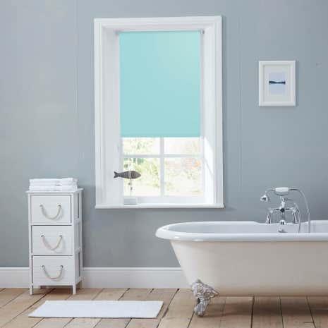 bathroom blinds. seafoam moisture resistant roller blind bathroom blinds t