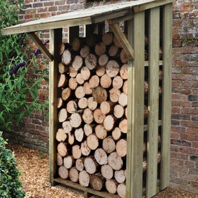 Flip Roof Log Store Small