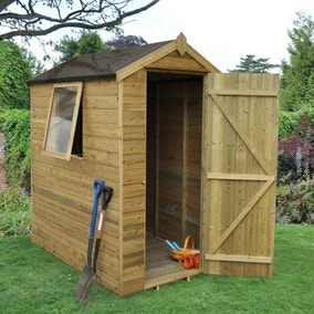 4ft x 6ft Garden Tongue and Groove Apex Shed