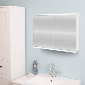 Simplicity Mirrored Double Cabinet