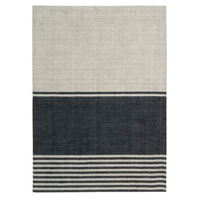 Calvin Klein Charcoal and Stone Tundra Tunis Medina Rug