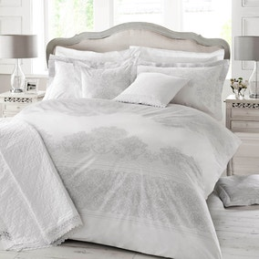 Holly Willoughby Iva Grey Oxford Pillowcase Pair