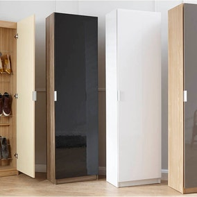 Large High Gloss Shoe Cabinet