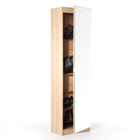 Large Mirrored Shoe Cabinet