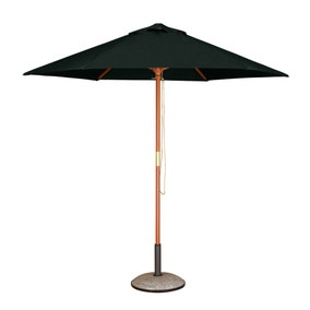 Hexagonal Hardwood 2.5m Black Parasol