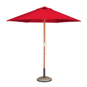 Hexagonal Hardwood 2.5m Red Parasol