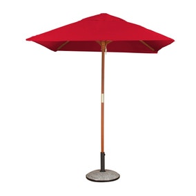 Square Premium 1.8m Red Parasol