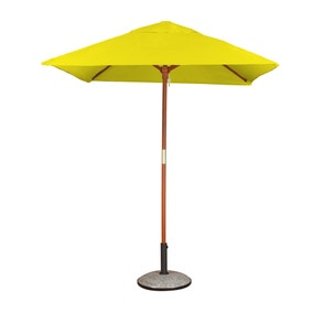 Square Premium 1.8m Yellow Parasol