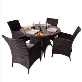 Leonardo Dining Set with Inlaid Glass Top