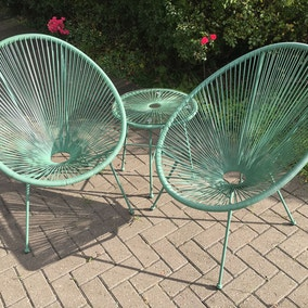 Royal Craft Green Monaco Egg Chair Set