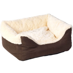 House of Paws Chocolate Faux Suede Dog Bed