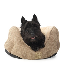 House of Paws Brown Hessian Dog Bed