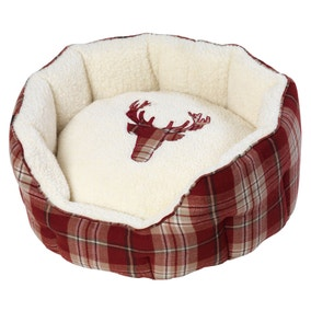 House of Paws Rustic Tweed Oval Dog Bed