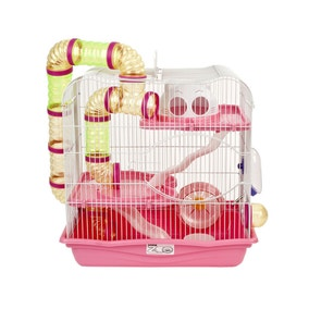 Henry Pink Hamster Cage
