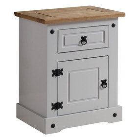 Corona Grey Bedside Table