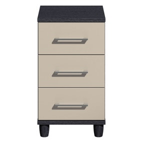 Marlena Black 3 Drawer Bedside Table