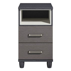Phoebe Black 2 Drawer Bedside Table