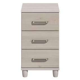 Phoebe Grey 3 Drawer Bedside Table