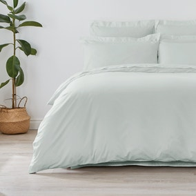 Non Iron Plain Dye Duck Egg Duvet Cover