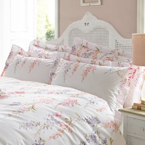Holly Willoughby Wisteria Pink Oxford Pillowcase Pair