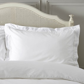 Dorma Plain Dye 300 Thread Count Cotton Percale White Oxford Pillowcase