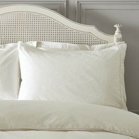 Dorma Plain Dye 300 Thread Count Cotton Percale Cream Housewife Pillowcase