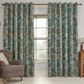 Cotswold Jade Eyelet Curtains