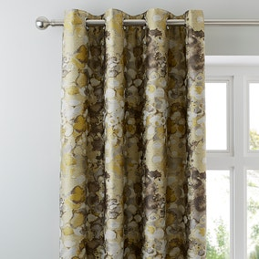 Emerson Ochre Eyelet Curtains