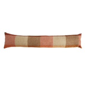 Heritage Check Terracotta Draught Excluder
