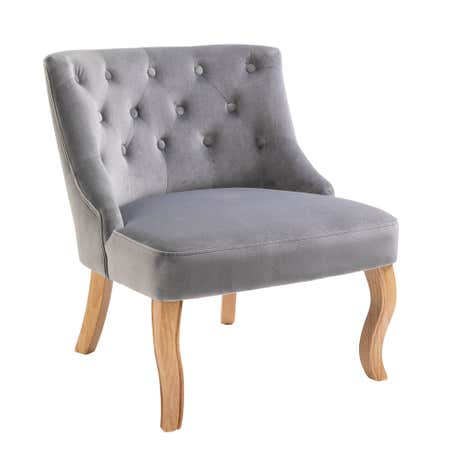 Grey Velvet Antoinette Chair. Loz_20_percent_off_ws15;  Loz_exclusive_to_dunelm