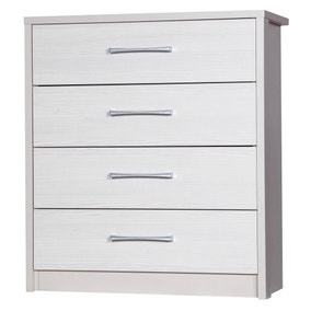 Avola White 4 Drawer Chest