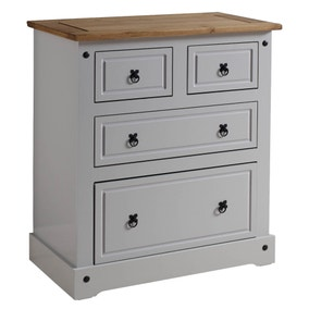 Corona Grey 4 Drawer Chest