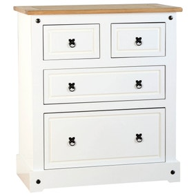 Corona White 4 Drawer Chest
