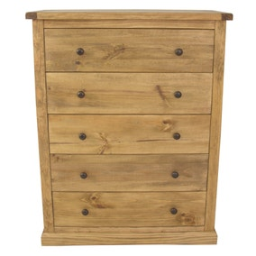 Esbon 5 Drawer Wide Chest