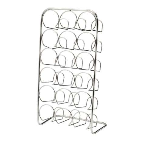 Hahn Pisa Chrome 18 Jar Spice Rack 1000100033 on kitchen curtains patterns